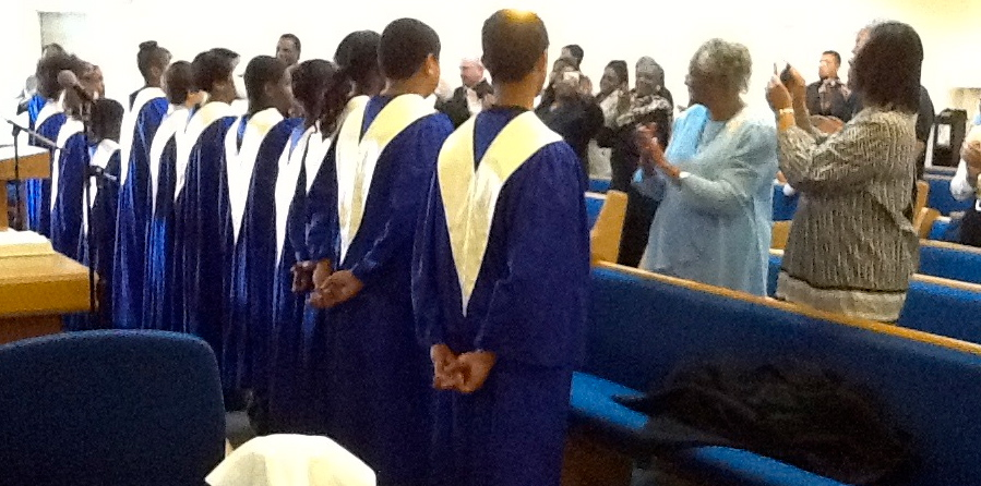 Deadication of new choir robes